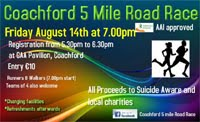 5 mile race in Coachford to the west of  Cork City...Fri 14th Aug