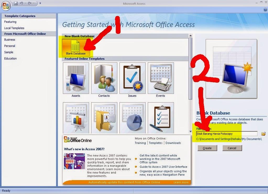 Menjalankan Program Microsoft Access