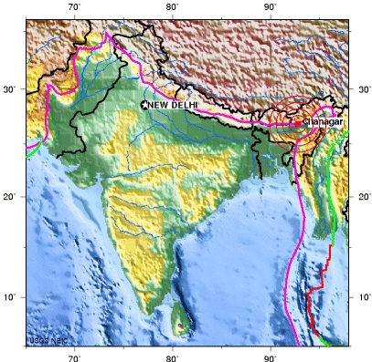 ASSAM, INDIA earthquake  2012 October 02