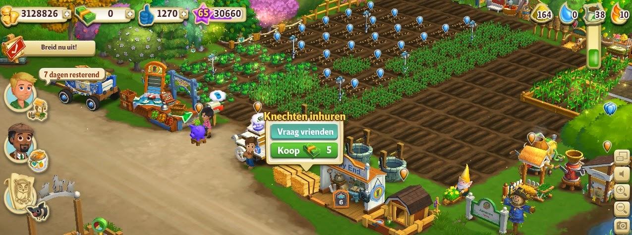 knechten inhuren bij Farmville2