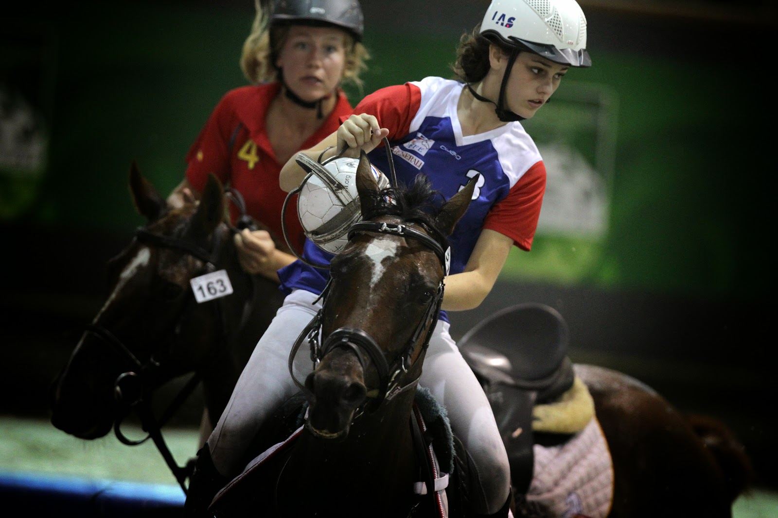 Horse-Ball game during 2014 FEI World Equestrian Games