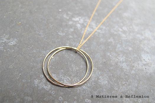Trois Petits Points Collier rings en vermeil