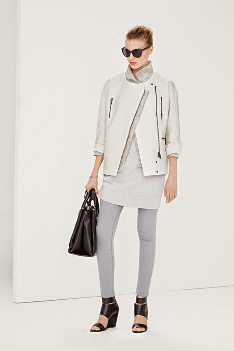 Looks Modern and Great With Cocoon Silhouette Biker Jacket