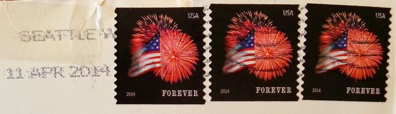 francobollo USA Star-Spangled Banner Fireworks MNH