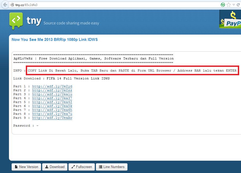 Cara Mendownload File dari Situs tny.cz