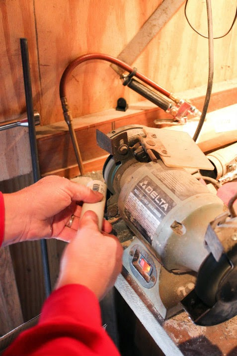 smoothing pvc pipe 1