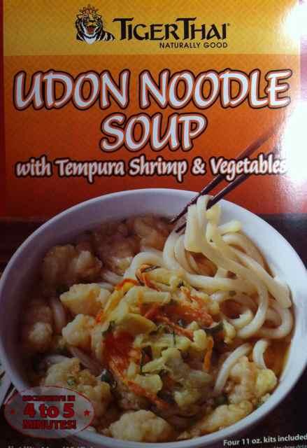 ... - Tiger Thai: Udon Noodle Soup with Tempura Shrimp and Vegetables
