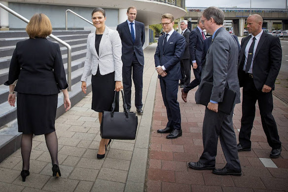 Crown Princess Victoria of Sweden visited The International Criminal Court (ICC) on April 22, 2015 in The Hague, The Netherlands.