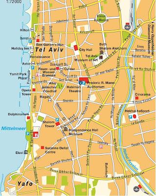 Map of Tel Aviv Yafo