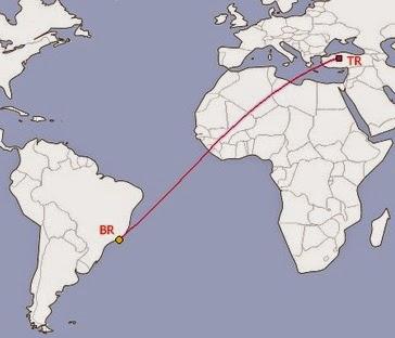 Türkiye'den Brezilya'ya uçakla kaç saatte gidilir