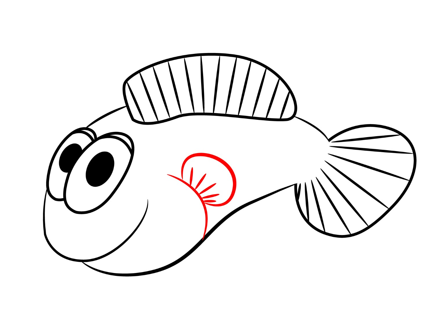 How to draw a cartoon clownfish draw central for Cartoon fish drawing