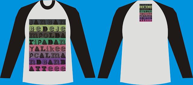 Design Kaos Lengan Panjang