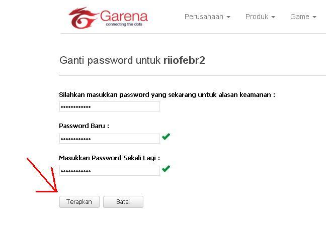 Maniak Game Indo Cara Ganti Password Pb Garena Tukar Kata Sandi