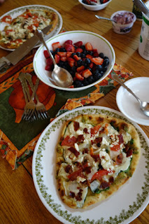 tasty dinner prepared by Bastrop quilter Elizabeth Overholser