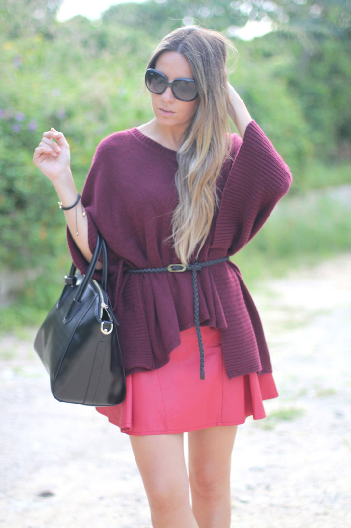 Oxblood jumper by blogger