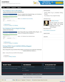 SEO Friendly Blogspot Template Valid HTML5