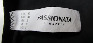 PASSIONATA - culotte noire à pois velours - T40 - NEUVE