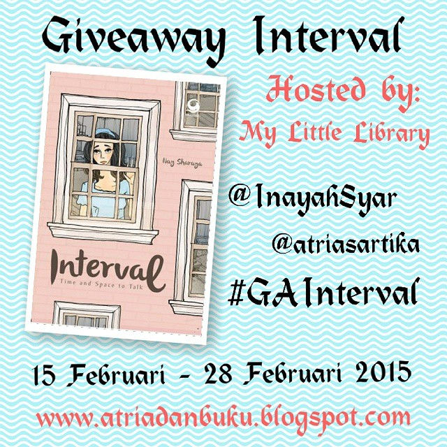 Giveaway berhadiah novel Interval