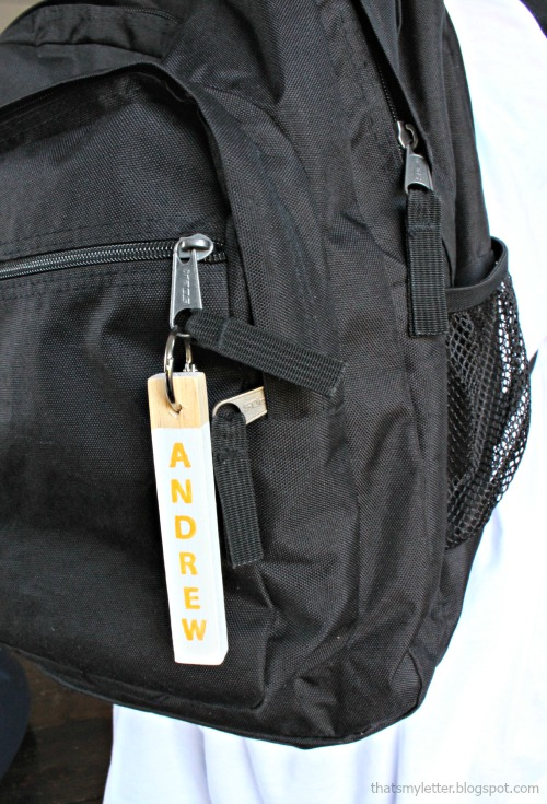wood key fob backpack