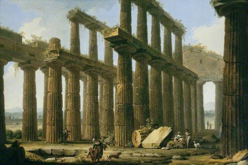 ROMAN RUINS ROME ITALY CANVAS WALL ART PICTURE LARGE 75 X 50 CM