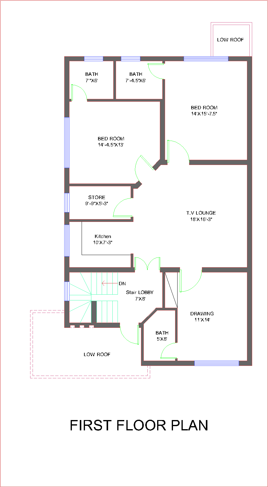 House plans and design architectural design of 10 marla House map online free
