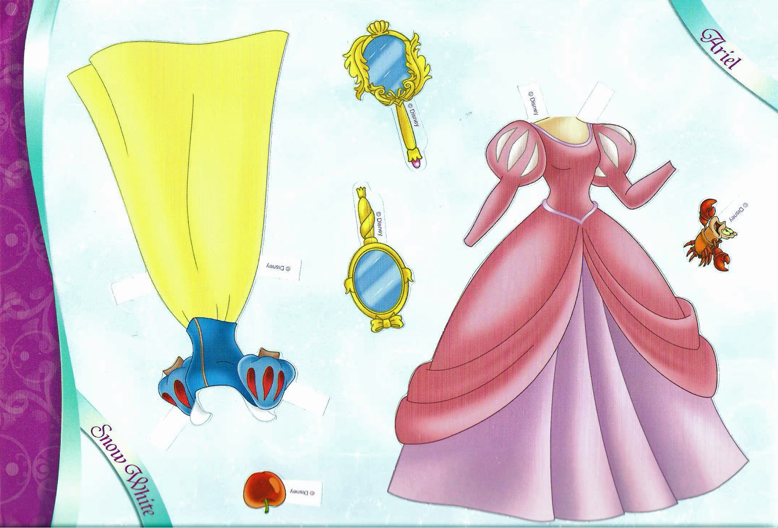 Dress up princess doll - All Dressed Up Disney Princess Paper Dolls Part 1