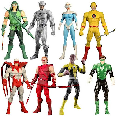 DC Universe Classics Wave 20 by Mattel - Hooded Green Arrow, White Lantern Flash, Dove, Reverse Flash, Hawk, Red Arrow, Sinestro Corps Sinestro  & Green Lantern Hal Jordan
