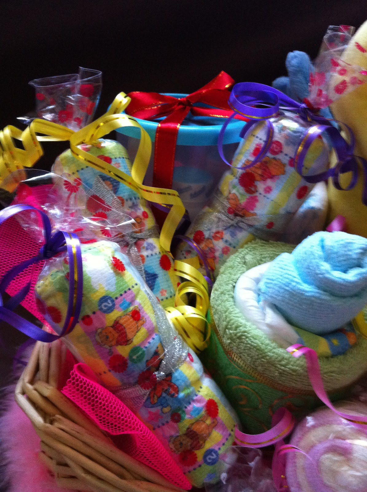 Baby Gift Creations : Nurie s creations diaper cakes baby gifts