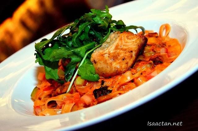 #3 Signature Grilled Salmon Pasta - RM45