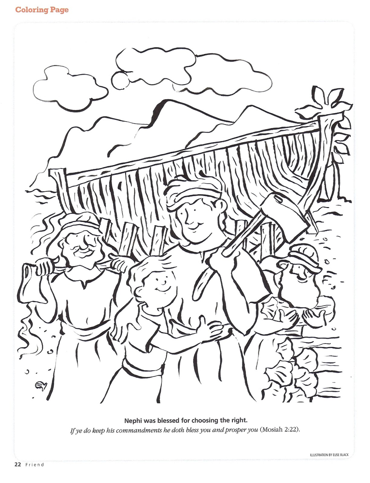nephi coloring pages - photo#2