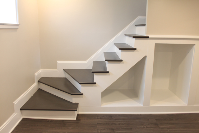 how to build finished stairs