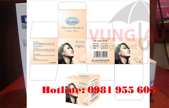 In hộp giấy mỹ phẩm ở Vũng Tàu