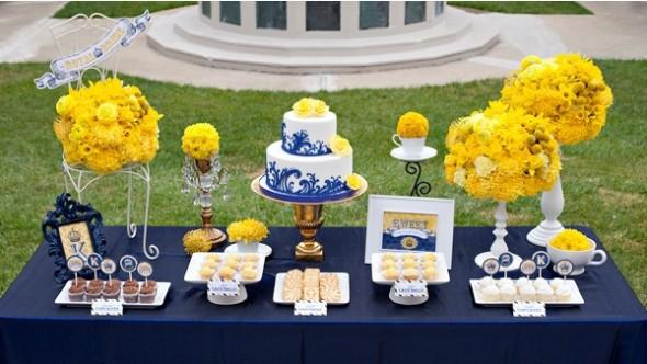 decoracao de casamento em azul e amarelo:Ficando noiva: Decoração: Azul e Amarelo