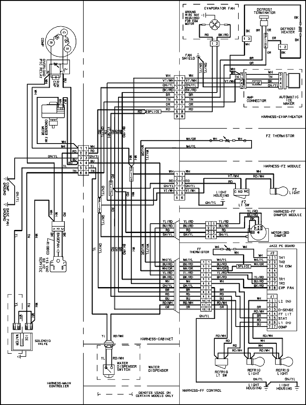 ABB1927DES%2BWiring%2BDiagram sea breeze appliance parts service and technical manuals amana goodman defrost control board wiring diagram at bakdesigns.co