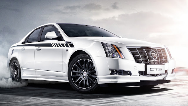 Cadillac White Car
