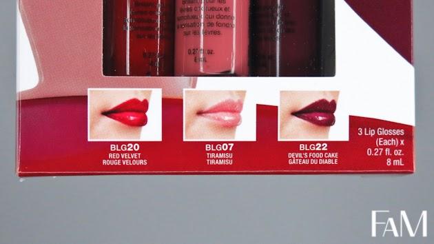 NYX Butter gloss set review - Red Velvet, Tiramisu and Devi'ls food cake