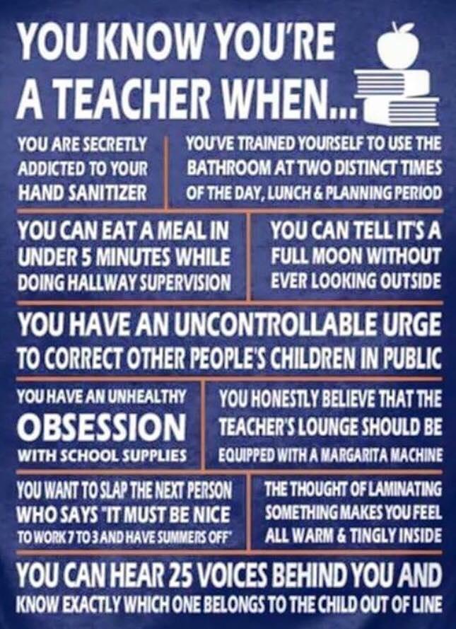 teacher resource room  you know you u0026 39 re a teacher when