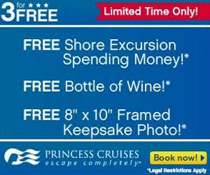 Princess Cruises Alaska 2014 - 3 for FREE Sales Event