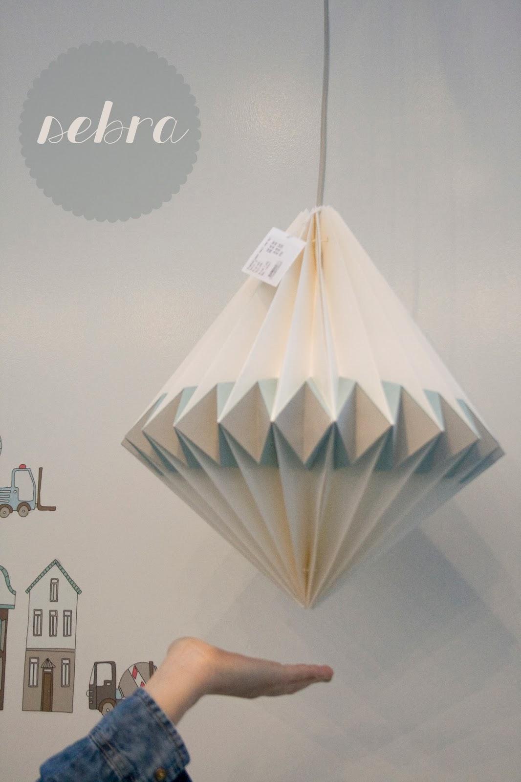 Sebra Papierlampe