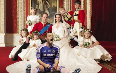 John Terry, Photobomb, celebration, photoshop, Royal Wedding,