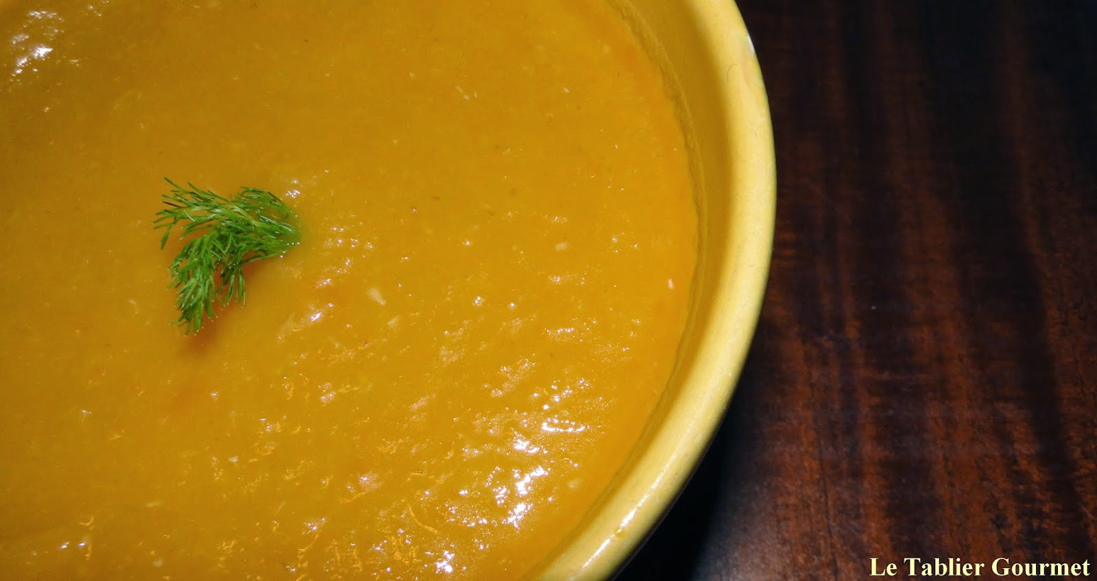 Le velouté de carottes, fenouil et cumin