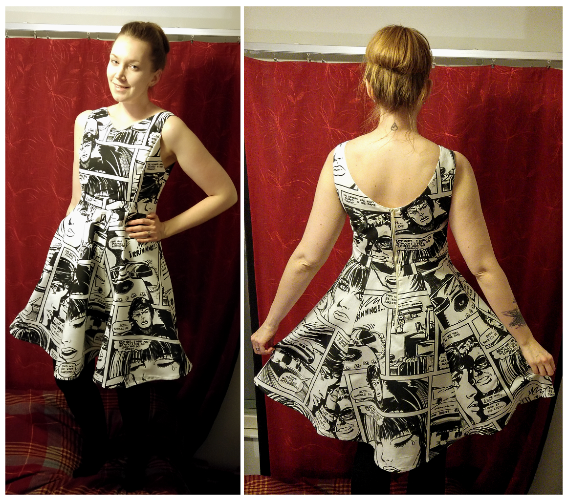 Sew Scoundrel Comic Strip Dress From A Curtain