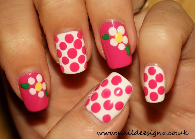 naildeesignz polka dots & flowers