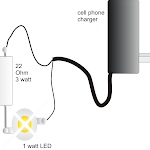 1 Watt LED Driver Using a Cell Phone Charger