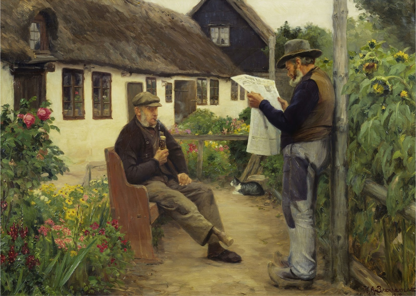 Hans Andersen  rendekilde Reading the Newspaper