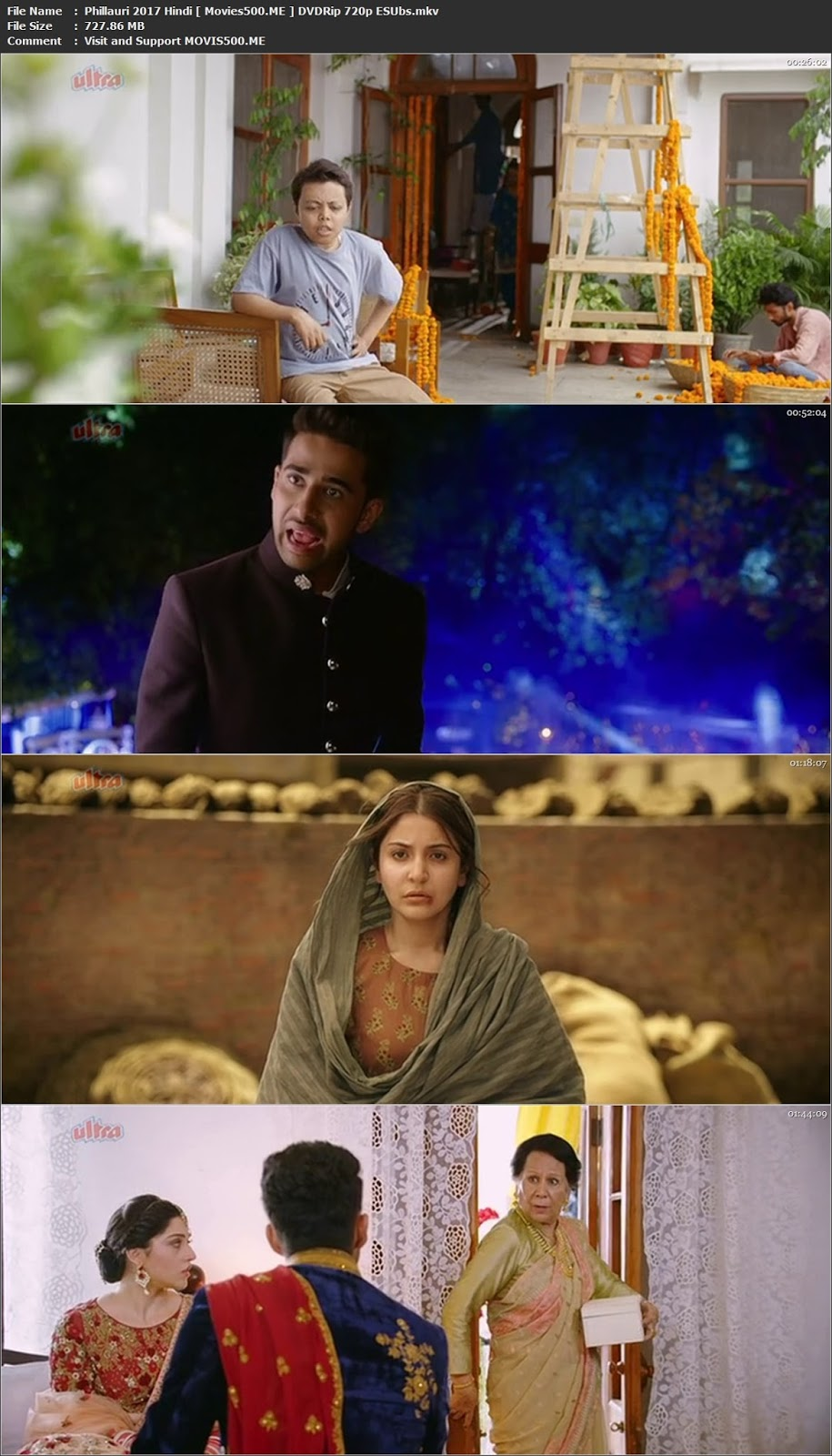 Phillauri 2017 Hindi Full Movie DVDRip 720p ESUbs at tokenguy.com