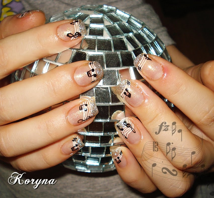 The Breathtaking Music note nail designs tutorial Digital Photography