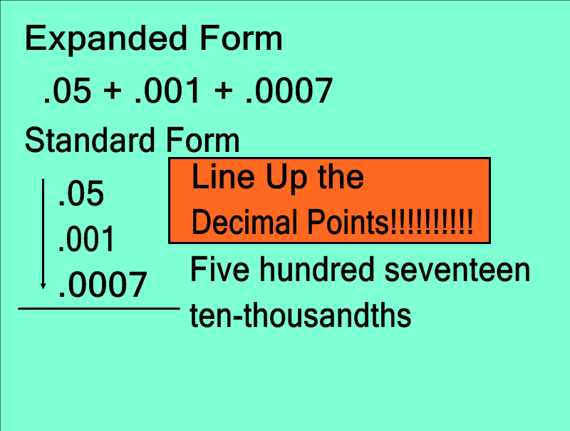 Mrs Whites 6th Grade Math Blog Word Expanded Standard Form Oh