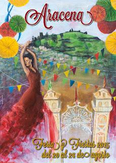 Aracena - Mario del Valle Díaz - Cartel Feria Agosto 2015