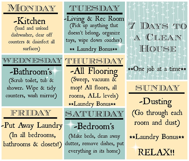 how to clean your whole house in a day